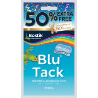 Bostick Blu Tack 50% Extra Free