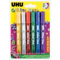 Uhu Glitter Glue 6x10g Assorted Tubes