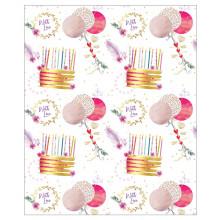 Gift Wrap Cake & Balloons