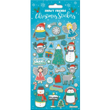 Snowy Friends Christmas Stickers Foil