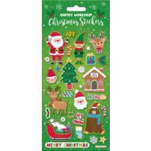 Santa's Workshop Christmas Stickers Foil