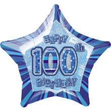 Prism Balloon Blue Age 100 Star