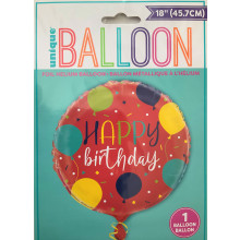 Foil Balloons Happy Birthday Red