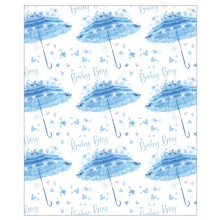 Gift Wrap Baby Brolly Blue