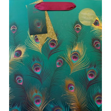 Gift Bag Lavish Feathers Medium