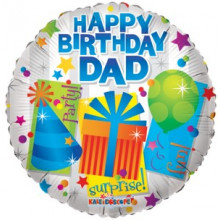Happy Birthday Dad Foil Balloon