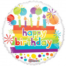 Happy Birthday Foil Balloon Candles