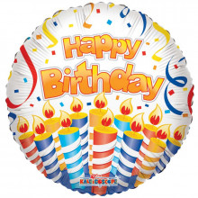 Foil Balloons Happy Birthday Candles