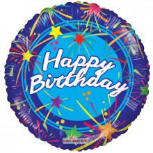 Foil Balloons Happy Birthday Blue