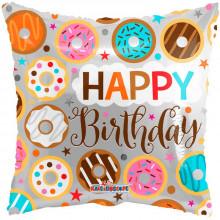Foil Balloons Happy Birthday Donuts