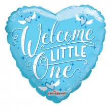 Welcome Little One Foil Balloon Blue