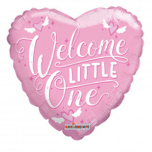 Welcome Little One Foil Balloon Pink