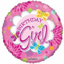 Foil Balloons Birthday Girl