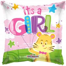 It's A Girl Pillow Foil Balloon