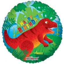 Foil Balloons Happy Birthday Dinosaur