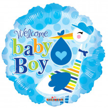 Welcome Baby Boy Foil Balloon