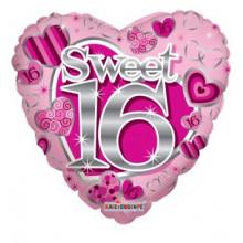 Sweet Sixteen Pink Foil Balloon