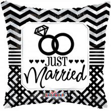 Just Married Pillow Foil Balloon
