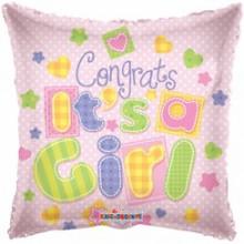 Birth Congrats Girl Foil Balloon