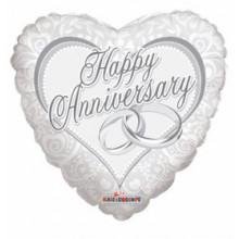 Anniversary Heart Foil Balloon