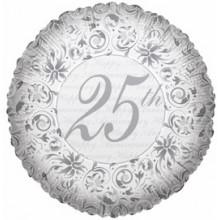 25th Wedding Anniversary Foil Balloon