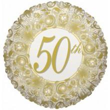 50th Wedding Anniversary Foil Balloon