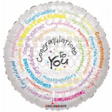 Congratulations To You Foil Balloon