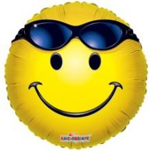 Smiley/Sunglasses Foil Balloon