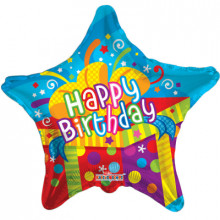 Foil Balloons Happy Birthday Parcels