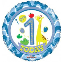 Foil Balloons Age 1 Blue