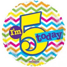 Foil Balloons Age 5 Neutral