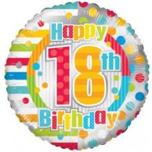 Happy 18th Spots Foil Balloon