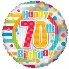 Happy 70th Spots Foil Balloon