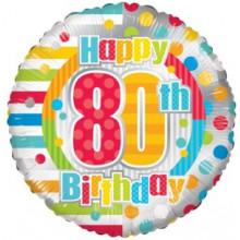 Happy 80th Spots Foil Balloon
