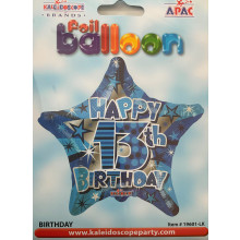 Foil Balloons Age 13 Male