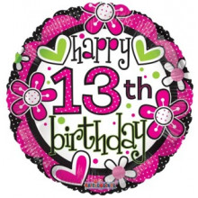 Foil Balloons Age 13 Female