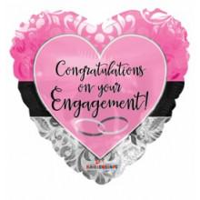 Engagement Foil Balloon Pink Heart