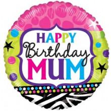 Happy Birthday Mum Foil Balloon