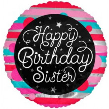 Happy Birthday Sister Foil Balloon