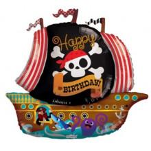 Pirate Ship Birthday Foil Balloon