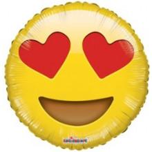 Emoji Smiley In Love Foil Balloon