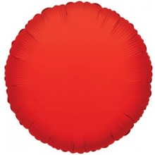 Red Round Foil Balloon