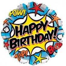 Foil Balloons Happy Birthday Comic