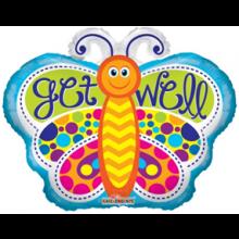 Get Well Butterfly Foil Balloon
