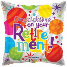 Congrats on your Retirement Foil Balloon