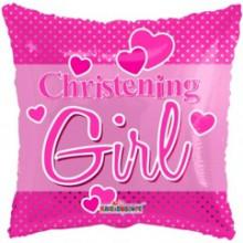 Christening Girl Foil Balloon