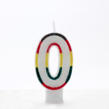 Coloured Numeral 0 Candle CN1000