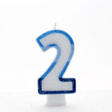 Blue Numeral 2 Candle CN1012
