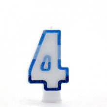 Blue Numeral 4 Candle CN1014