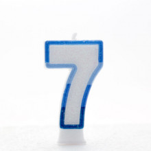 Blue Numeral 7 Candle CN1017